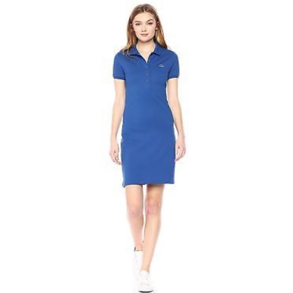 ee8d721d7ef5 Lacoste Dresses & Skirts - Lacoste blue pique polo shirt dress